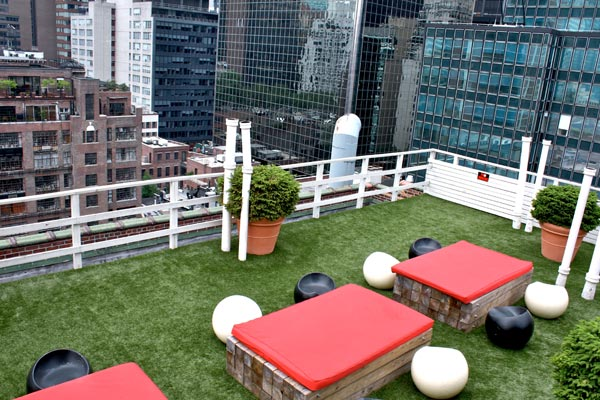 artificial grass roof, deck and patios