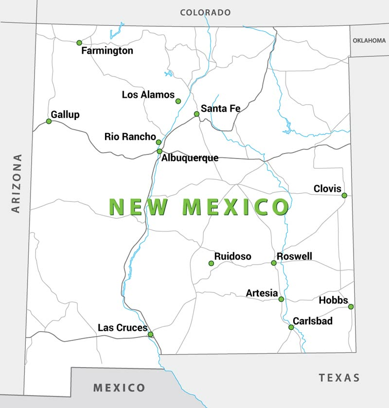 Service Area Map - SYNLawn New Mexico
